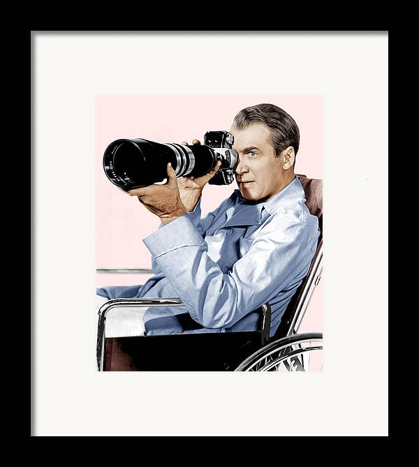 1950s Portraits Framed Print featuring the photograph Rear Window, James Stewart, 1954 by Everett