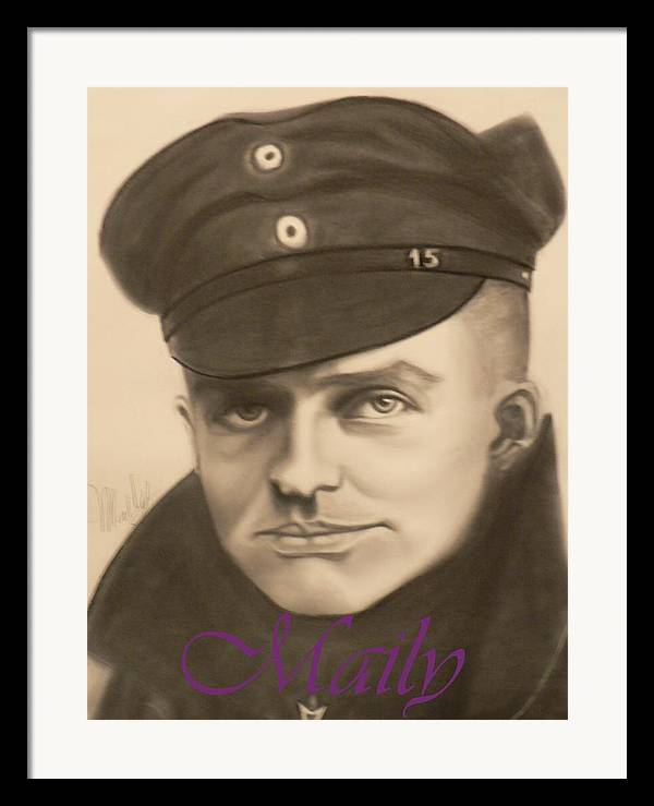Manfred Richthophen Wwi Framed Print featuring the painting Red Baron by Maily