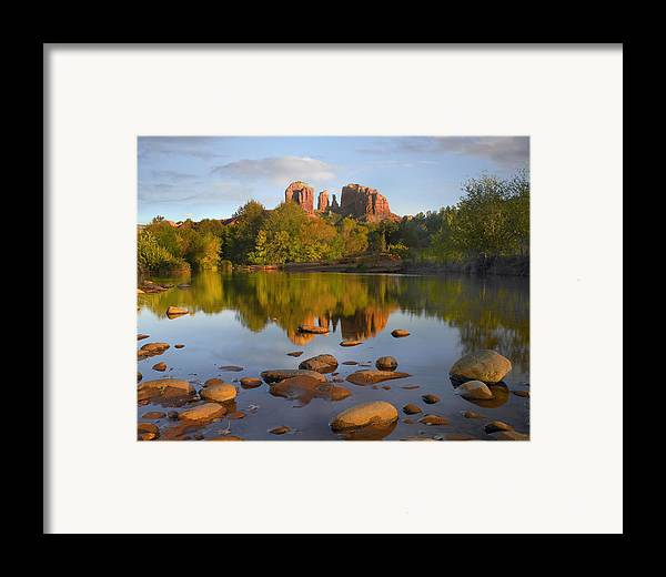 00486981 Framed Print featuring the photograph Red Rock Crossing Arizona by Tim Fitzharris