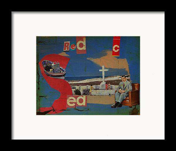 Red Sea Framed Print featuring the mixed media Red Sea by Adam Kissel