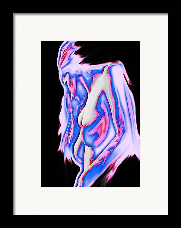 Red White And Blue Framed Print featuring the painting Red White And Blue by Tbone Oliver