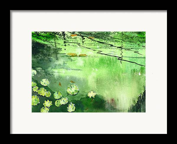 House Framed Print featuring the painting Reflections 1 by Anil Nene
