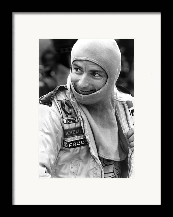 Ren� Arnoux Framed Print featuring the photograph Rene Arnoux by Mike Flynn