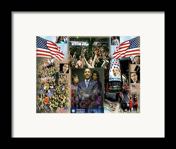 Barack Framed Print featuring the digital art Respectfully Yours..... Mr. President 2 by Terry Wallace