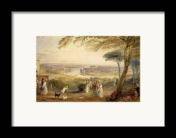 Richmond Terrace Framed Print featuring the painting Richmond Terrace by Joseph Mallord William Turner