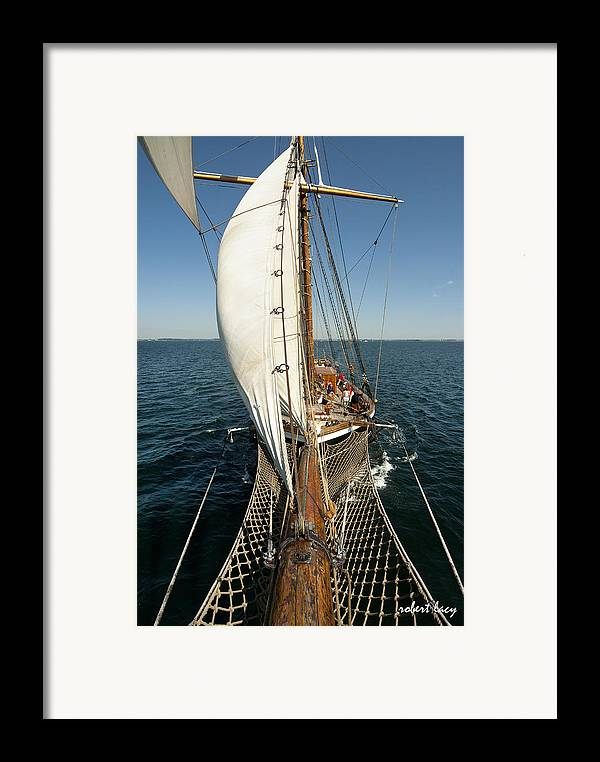 Tall Ships Framed Print featuring the photograph Riding The Breeze by Robert Lacy
