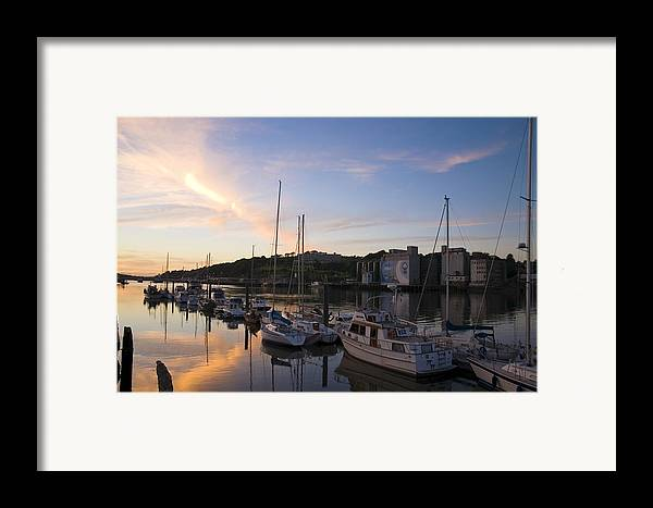 Boat Framed Print featuring the photograph River Suir, From Millenium Plaza by The Irish Image Collection