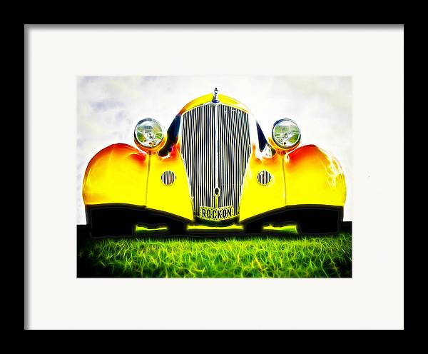 Ford Hot Rod Framed Print featuring the photograph Rockon Rod by Phil 'motography' Clark