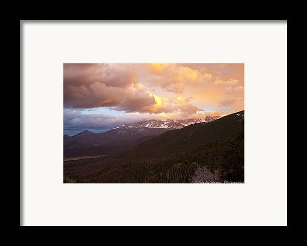 Rocky Mountains Framed Print featuring the photograph Rocky Mountain Sunset by Charles Warren