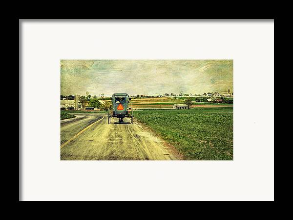 Amish Framed Print featuring the photograph Route 716 by Kathy Jennings