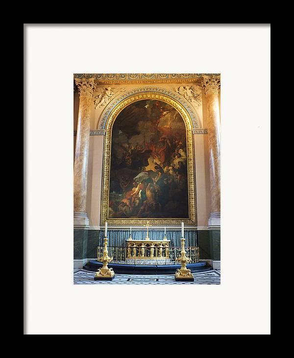 Royal Naval Chapel Framed Print featuring the photograph Royal Naval Chapel Interior by Anna Villarreal Garbis