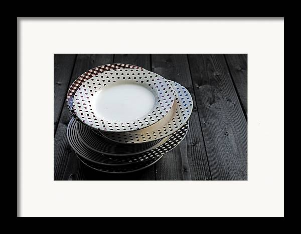 Old Framed Print featuring the photograph Rural Plates by Joana Kruse