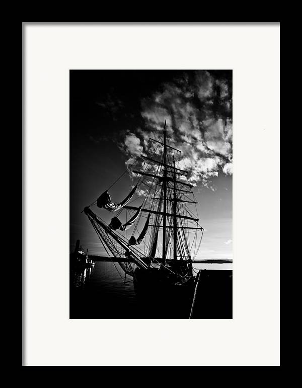 Art Framed Print featuring the photograph Sails In The Sunset by Hakon Soreide