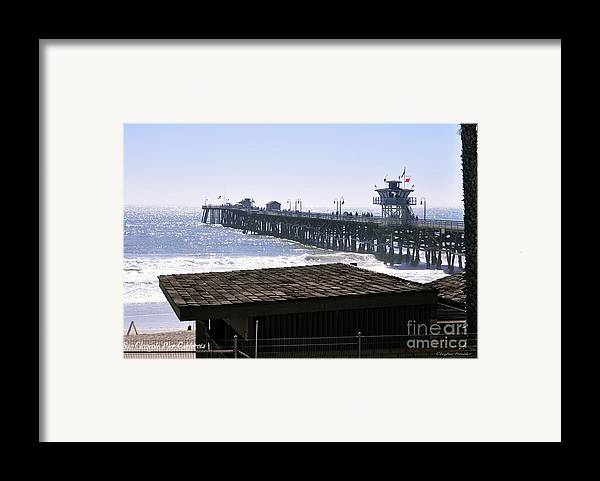 Clay Framed Print featuring the photograph San Clemente Pier California by Clayton Bruster
