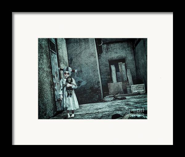 3d Framed Print featuring the digital art Scary Place by Jutta Maria Pusl