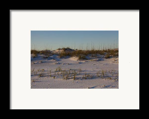 Sand Dunes Framed Print featuring the photograph Seaside Dunes 4 by Charles Warren
