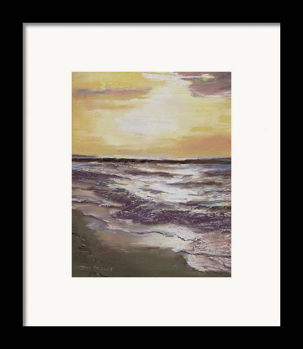 Sunset Framed Print featuring the painting Sesuit Sunset by Jack Skinner