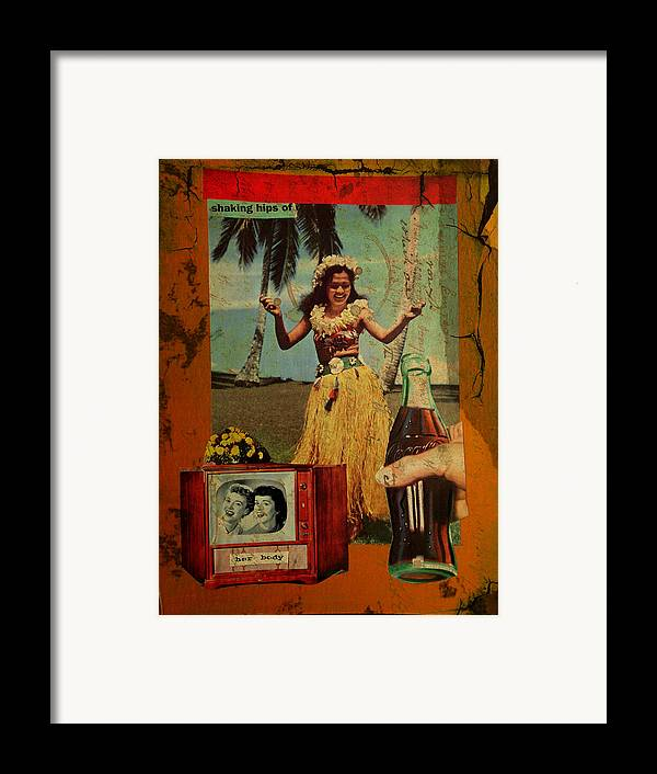Girl Framed Print featuring the mixed media Shaking Hips by Adam Kissel