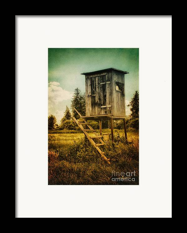 Photo Framed Print featuring the photograph Small Cabin With Legs by Jutta Maria Pusl