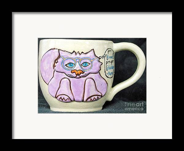 Kitty Framed Print featuring the photograph Smart Kitty Mug by Joyce Jackson