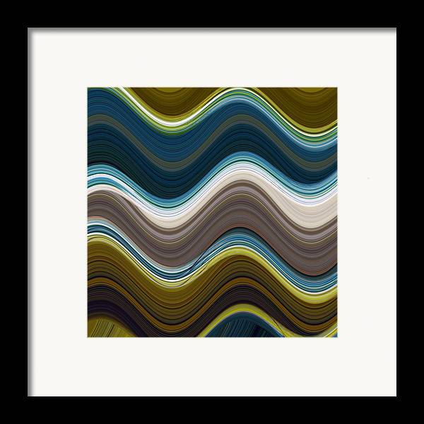 Abstract Art Framed Print featuring the mixed media Sonic Speed by Ricki Mountain