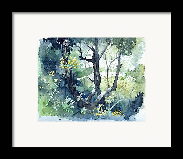Olive Tree Framed Print featuring the painting Spanish Olive Trees by Stephanie Aarons
