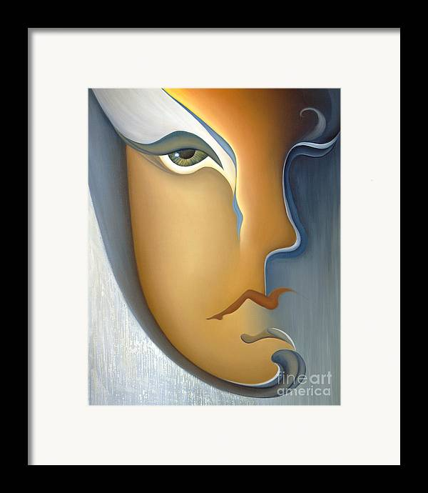 Sensual Framed Print featuring the painting Speak No Evil by Joanna Pregon