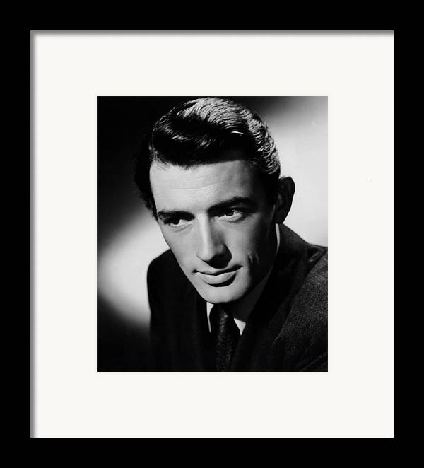 1940s Portraits Framed Print featuring the photograph Spellbound, Gregory Peck, 1945 by Everett