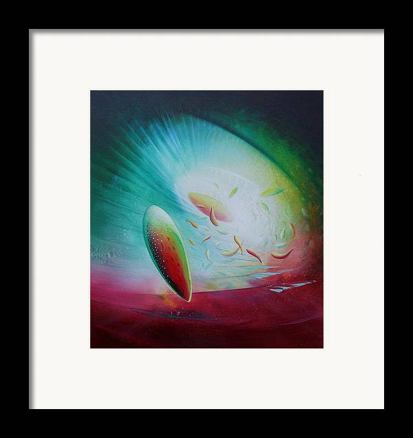 Sphere Framed Print featuring the painting Sphere Bf3 by Drazen Pavlovic