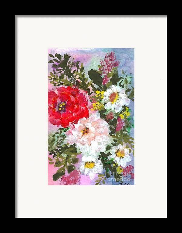 Splashy Framed Print featuring the painting Splashy Flowers by Debbie Wassmann