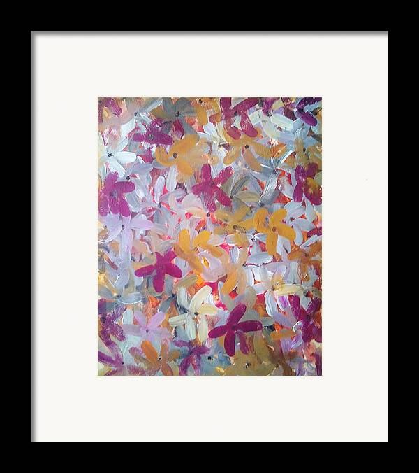 Spring Framed Print featuring the painting Spring Awakening by Derya Aktas