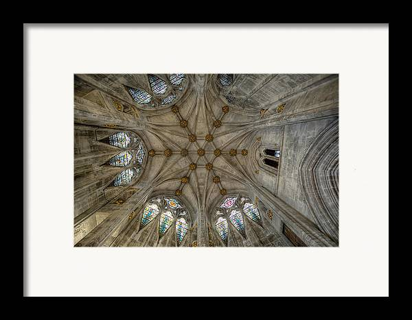 Architecture Framed Print featuring the photograph St Mary's Ceiling by Adrian Evans