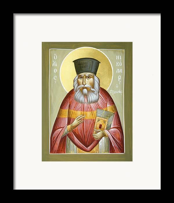 St Nicholas Planas Framed Print featuring the painting St Nicholas Planas by Julia Bridget Hayes