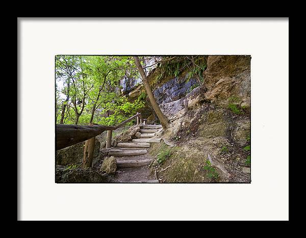 Hamilton Pool Framed Print featuring the photograph Steps To The Cave by Lisa Spencer