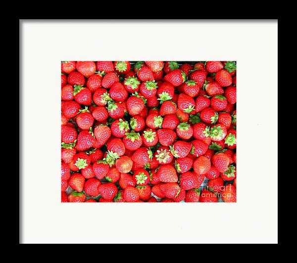 Strawberry Framed Print featuring the photograph Strawberries by Yali Shi