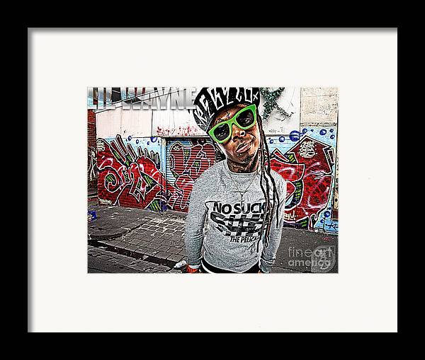 Little Wayne Framed Print featuring the digital art Street Phenomenon Lil Wayne by The DigArtisT