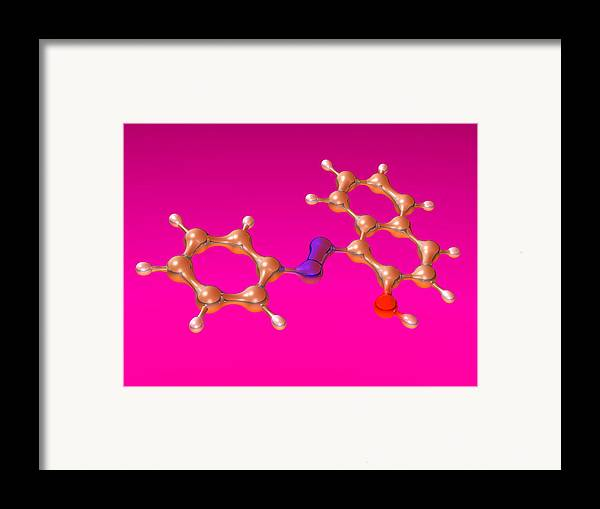 Sudan 1 Framed Print featuring the photograph Sudan 1 Molecule by Dr Mark J. Winter