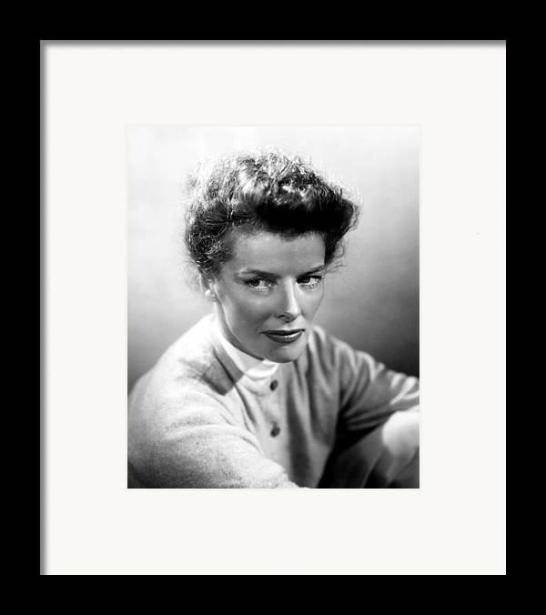 1950s Portraits Framed Print featuring the photograph Summertime, Katharine Hepburn, 1955 by Everett