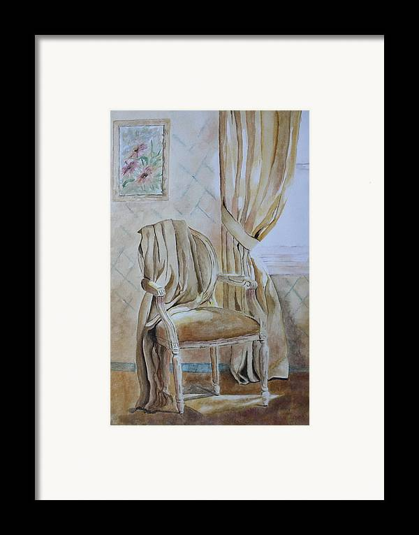 Interior Still Life Framed Print featuring the painting Sunlit Afternoon by Patsy Sharpe