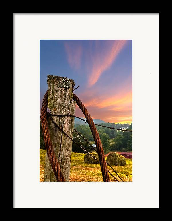 Andrews Framed Print featuring the photograph Sunrise Lasso by Debra and Dave Vanderlaan
