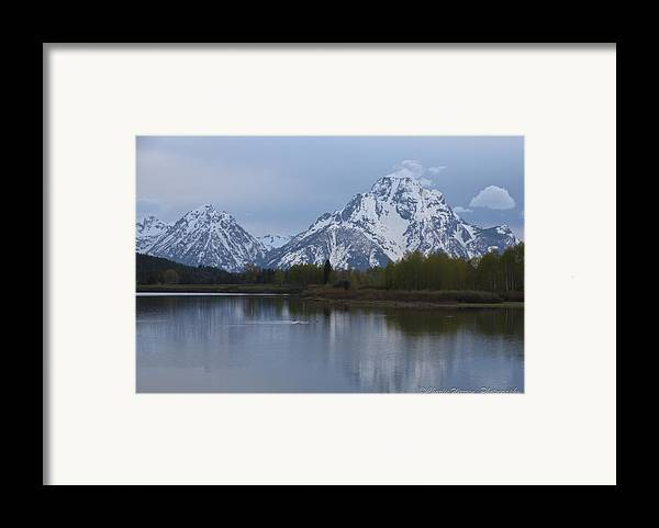 Grand Tetons Framed Print featuring the photograph Sunset Grand Tetons by Charles Warren