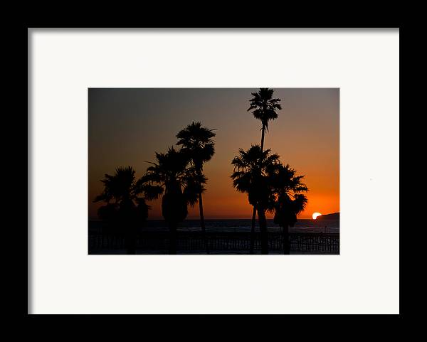 San Clemente Framed Print featuring the photograph sunset in Califiornia by Ralf Kaiser