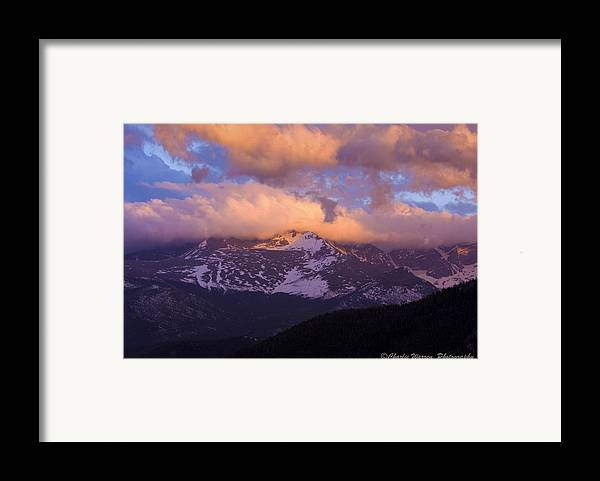 Sunset Framed Print featuring the photograph Sunset Over The Rockies by Charles Warren