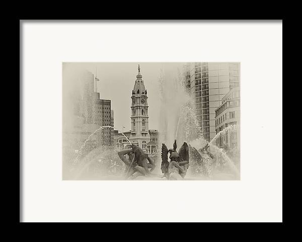 Fountain Framed Print featuring the photograph Swann Memorial Fountain In Sepia by Bill Cannon