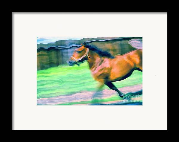 Odon Framed Print featuring the painting Swings by Odon Czintos
