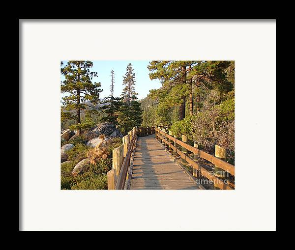 Lake Tahoe Framed Print featuring the photograph Tahoe Bridge by Silvie Kendall