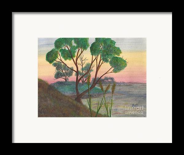 Watercolor Framed Print featuring the painting Taking A Moment... by Robert Meszaros