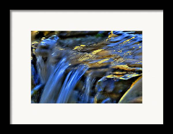 Waterfall Framed Print featuring the photograph Taylor Waterfall by David Clark