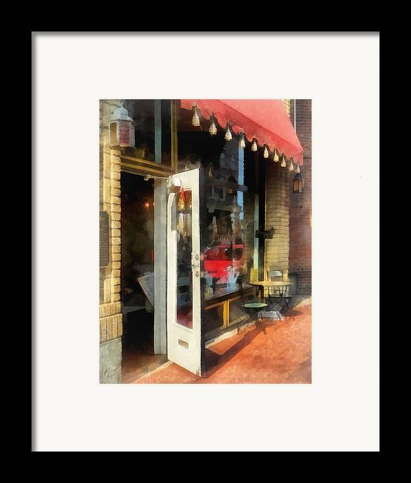 Tea Room Framed Print featuring the photograph Tea Room In Sono Norwalk Ct by Susan Savad