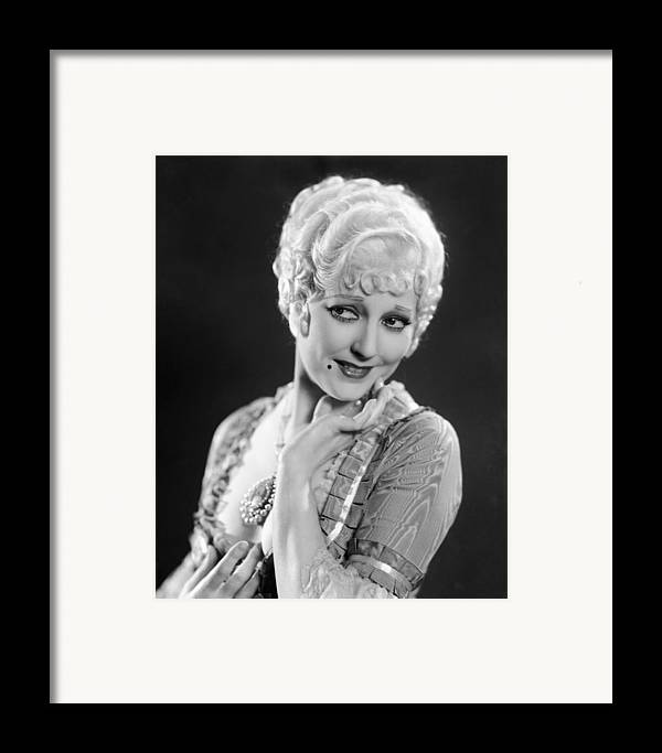 1930s Movies Framed Print featuring the photograph The Devils Brother, Thelma Todd, 1933 by Everett